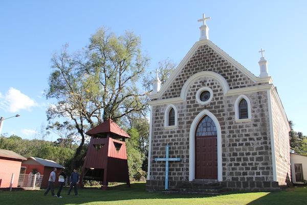 igreja santo antonio na linha tapera do agroturismo que visita as locações do quatrilho
