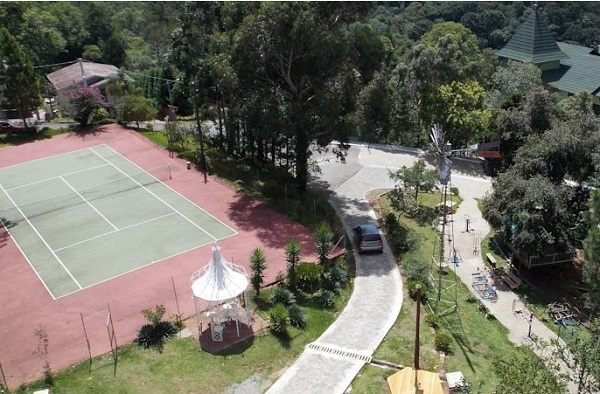 quadra de tenis do hotel pousada sossego do major